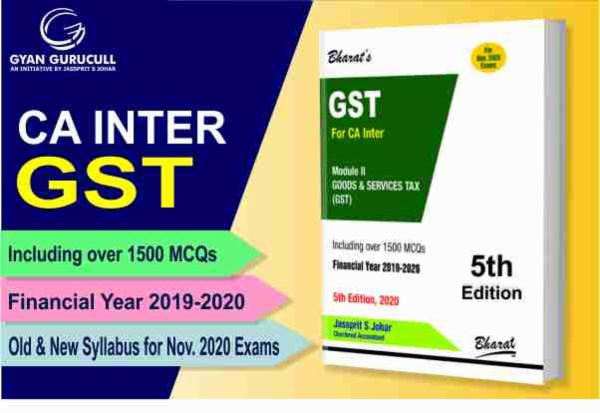 Taxation (GST Book) CA Inter New & Old Syllabus By Jassprit S Johar cover