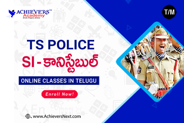 TS SI Constable Online Coaching in Telugu cover