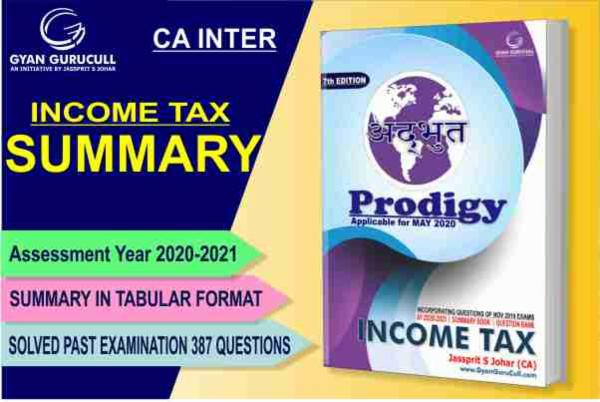 Income Tax Summary Book CA Inter New & Old Syllabus By Jassprit S Johar cover