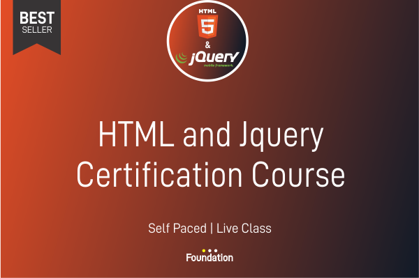 HTML & JQuery Certification Course cover