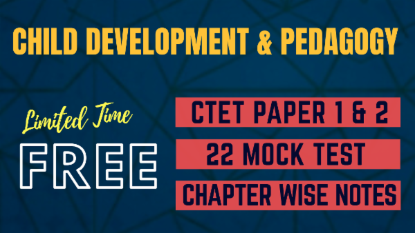 Child Development & Pedagogy Paper 1 & 2 for CTET & all State TETs cover