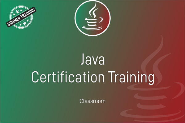 Java - Summer Training cover