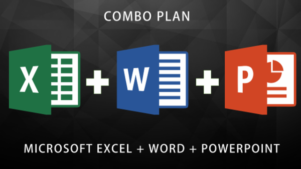 MS Excel + MS Word + MS Powerpoint Expert (COMBO PLAN) cover