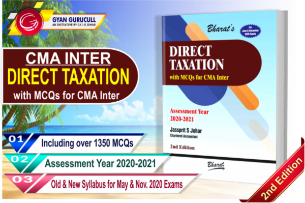 CMA Inter Direct Tax Book By Jassprit S Johar cover