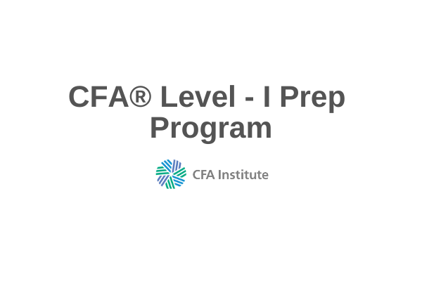CFA® Level I Prep Course cover