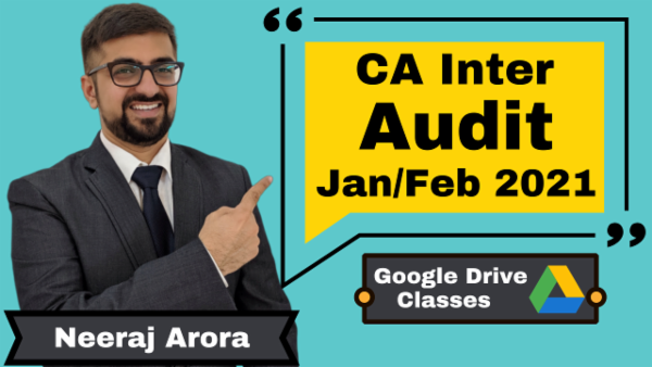 CA Inter Auditing and Assurance Online Classes - Google Drive - Nov 2020 cover
