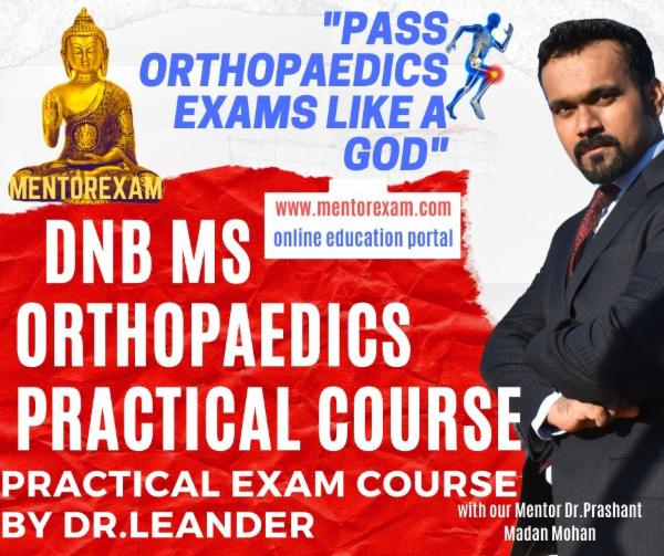 Orthopaedics DNB MS Practical Exam Course cover