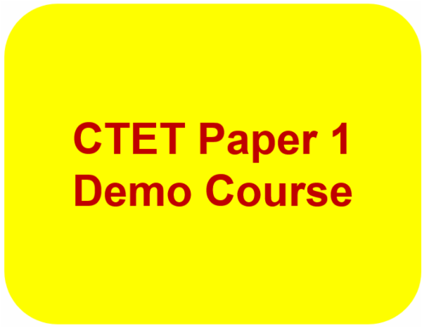 CTET Paper 1 Demo Course cover