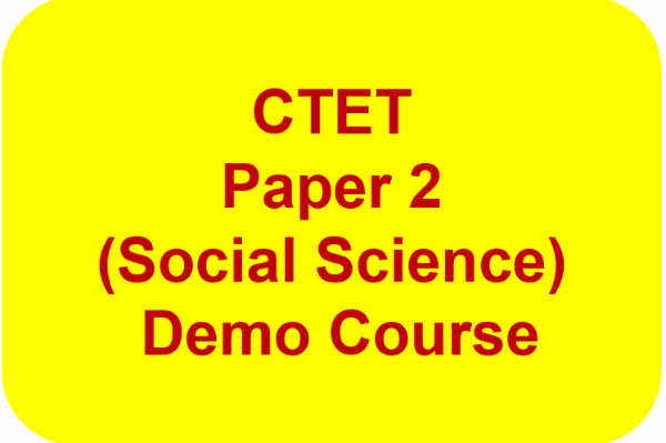 CTET Paper 2 (Social Science) Demo Course cover