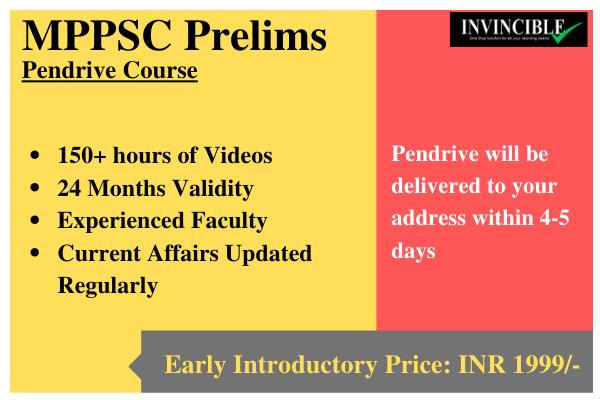 MPPSC Prelims - Pendrive Course cover