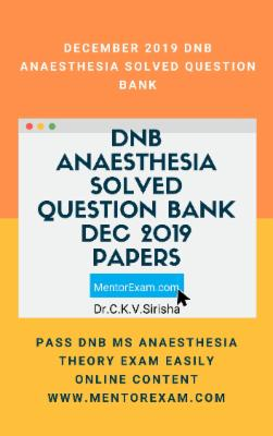 ANAESTHESIA December 2019 DNB THEORY EXAM COURSE cover