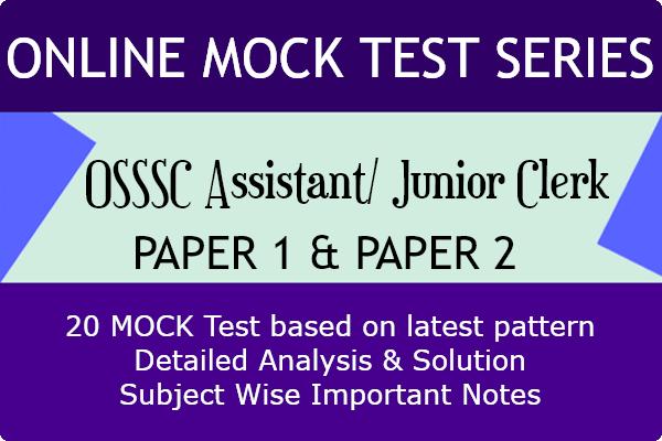 OSSSC Junior Clerk Mock Test Series cover