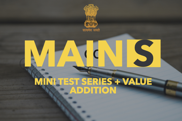 Mains Test Series + Answer Writing Value Addition Program cover