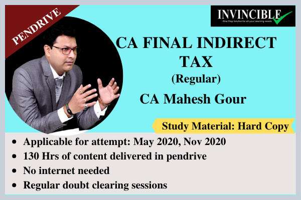 CA Final Indirect Tax - Pendrive Course cover