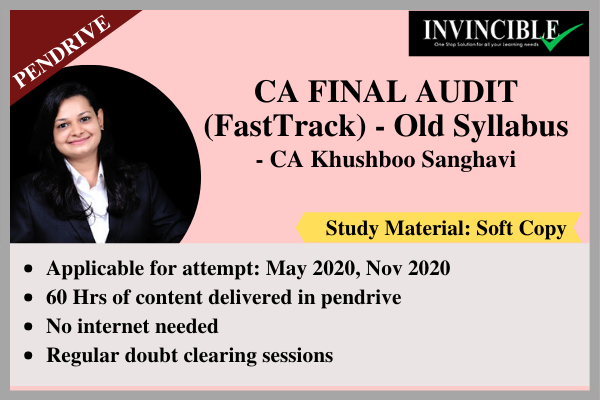 CA Final Audit - Pendrive Course cover