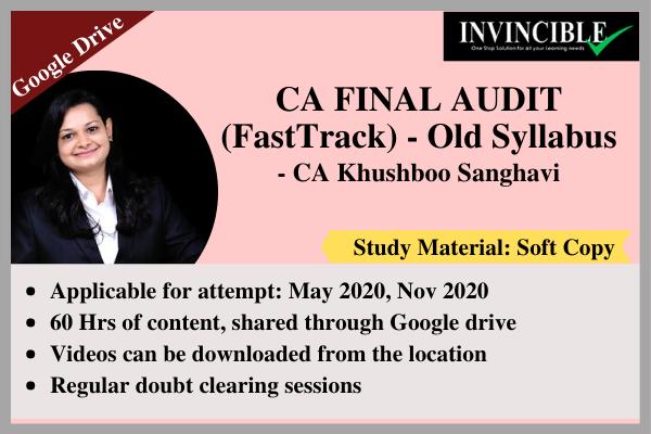 CA Final Audit - Google Drive cover