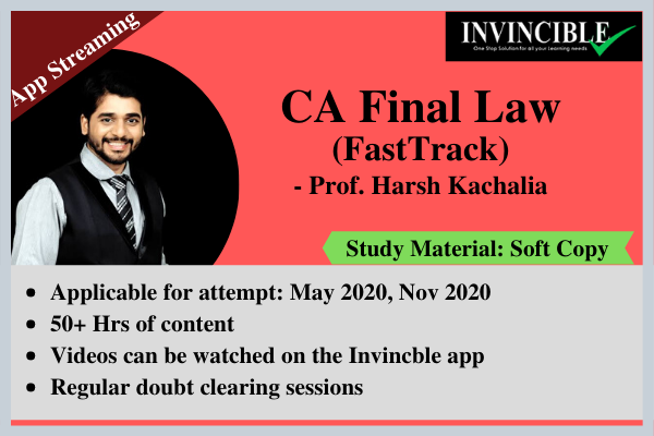 CA Final Law cover