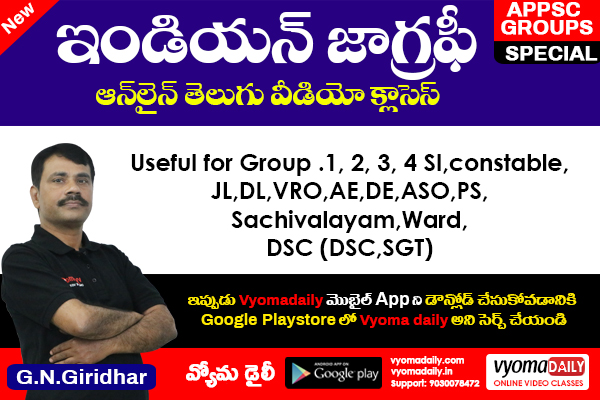 Indian Geography online Video Classes in Telugu cover