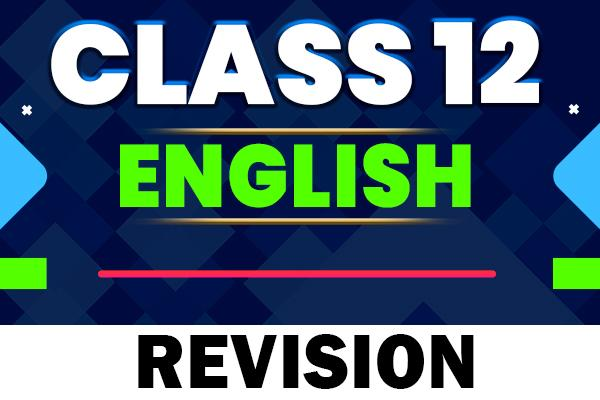 English revision : Class 12 cover