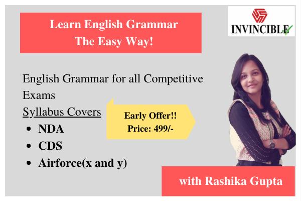 English Grammar for NDA/CDS/Air Force cover