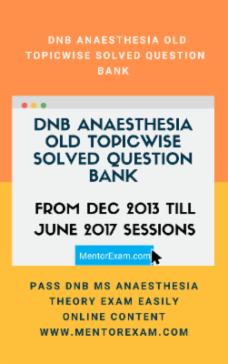 Anaesthesia DNB MD Exam Course cover