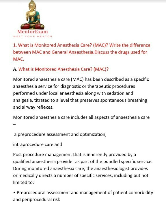anaesthesia solved question bank dnb md