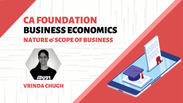 CA Foundation Nature and Scope of Business Economics | Mobile App cover