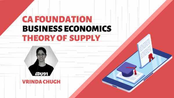 CA Foundation Theory of Supply | Mobile App cover