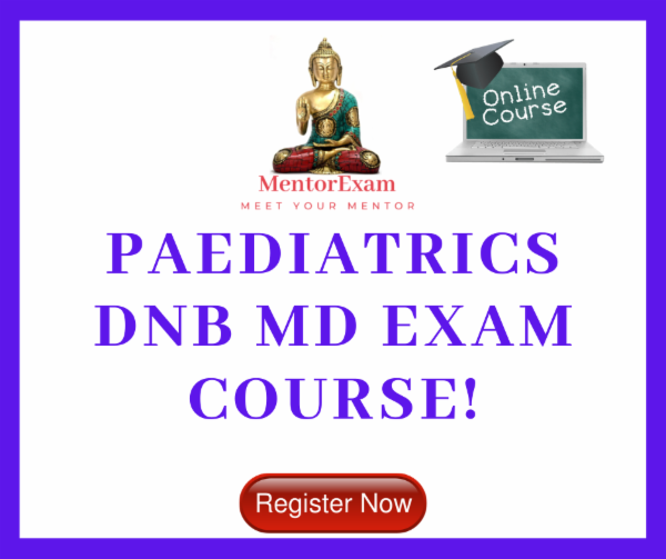 Paediatrics DNB MD Theory Practical exam course cover