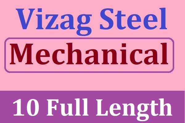 Vizag Steel Management Trainee 2020 Mechanical Best Test Series | Best Test Series for Vizag Steel MT 2020 cover