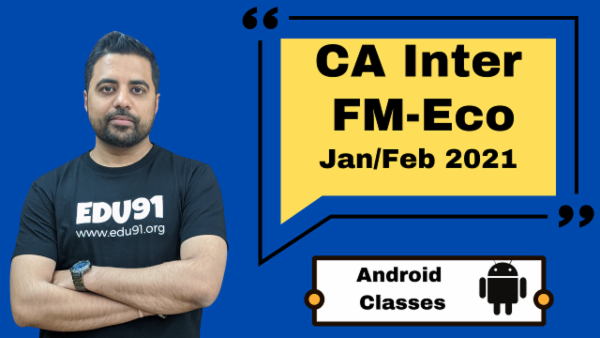 CA Intermediate Financial Management & Economics for Finance Classes - Android App - Nov 2020 cover