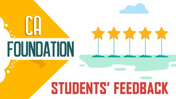 CA foundation Students Feedback cover