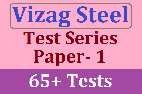 Vizag Steel Management Trainee 2020 Online Test Series for Paper- 1 | Best Test Series for Vizag Steel RINL MT 2020 cover