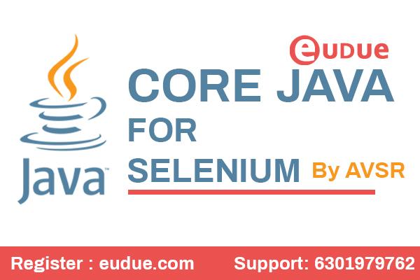 Core Java for Selenium Online Video Classes cover