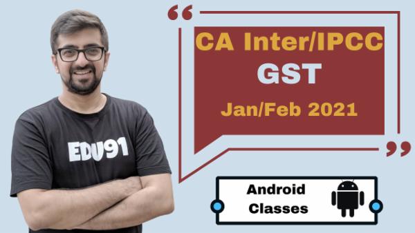 CA Intermediate GST Classes - Android App - Nov 2020 cover