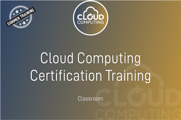 Cloud Computing - Summer Training cover