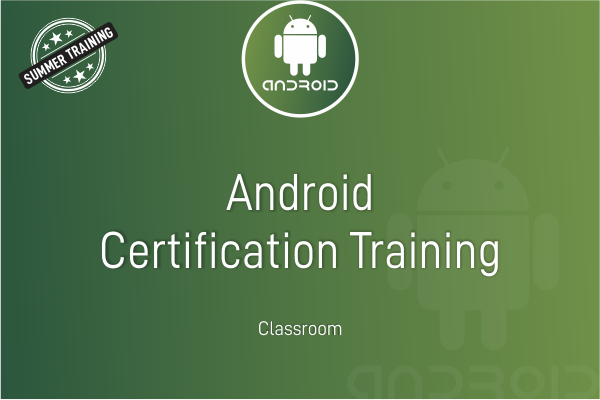 Android Summer Training cover