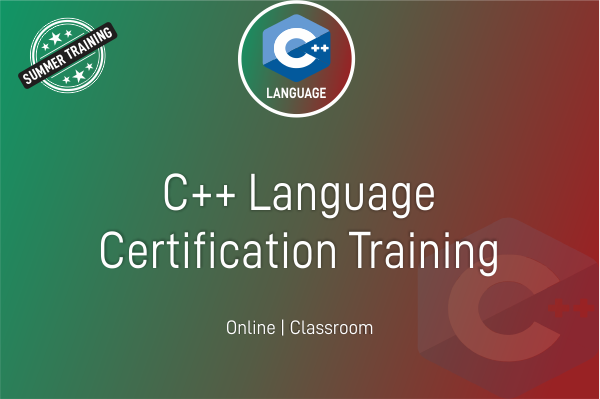 C++ - Summer Training cover