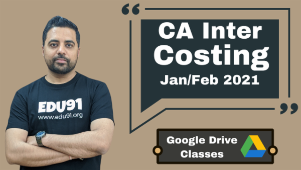 CA Inter Cost and Management Accounting Online Classes - Google Drive - Nov 2020 cover