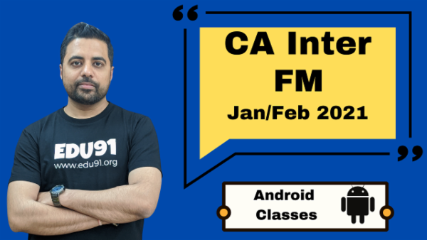 CA Intermediate Financial Management Classes - Android App - Nov 2020 cover