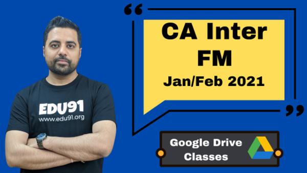 CA Inter Financial Management Online Classes - Google Drive - Nov 2020 cover