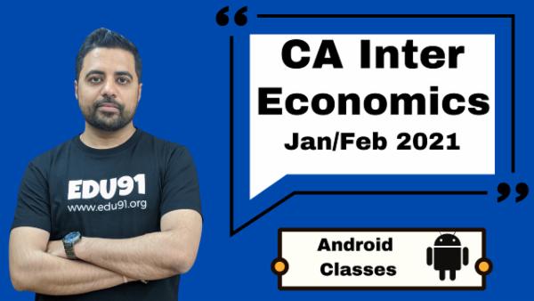 CA Intermediate Economics for Finance Classes - Android App - Nov 2020 cover