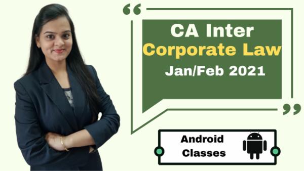 CA Intermediate Corporate Laws Classes - Android App - Nov 2020 cover