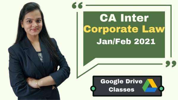 CA Inter Corporate Laws Online Classes - Google Drive - Nov 2020 cover