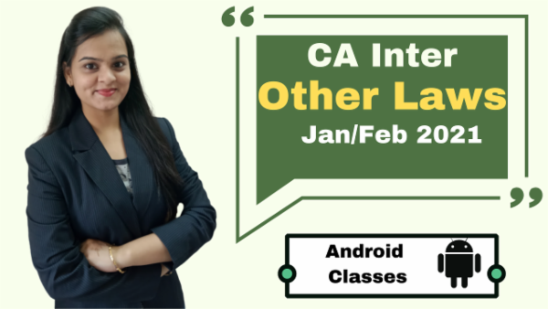 CA Intermediate Other Laws Classes - Android App - Nov 2020 cover
