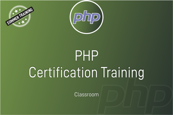 PHP - Summer Training cover