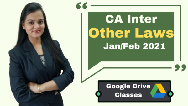 CA Inter Other Laws Online Classes - Google Drive - Nov 2020 cover