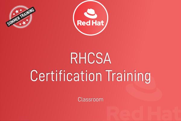 RHCSA - Summer Training cover