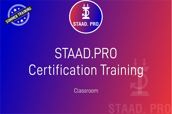 STAAD.Pro - Summer Training cover