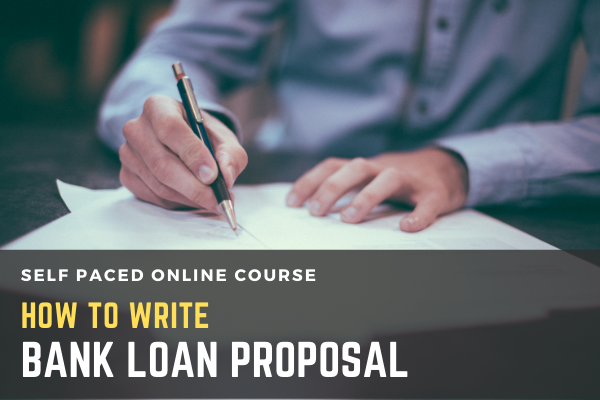 How to write Bank Loan Proposal cover